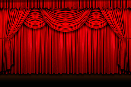 cartoon red curtains wallpaper - photo #43